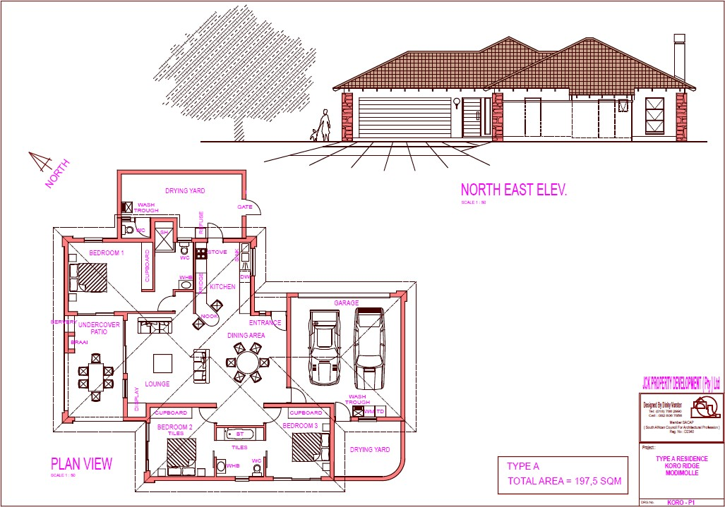House plans jck property development company pty ltd for House plans 3 bedroom and double garage